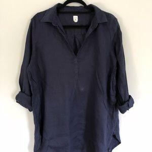Gap linen oversized long sleeve
